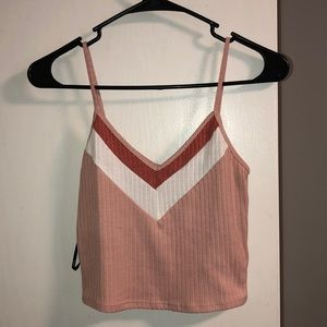 Forever 21 pink cropped tank top